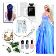 Evening Dress With Beading by johnnymuller on Polyvore featuring Dolce&Gabbana, Marc Jacobs, Deborah Lippmann and Manic Panic NYC