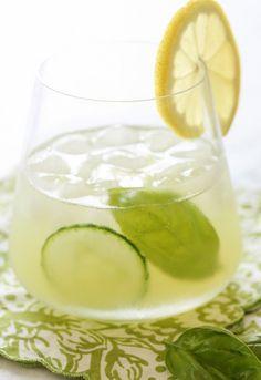 21. Basil Cucumber Gin Cooler #healthy #picnic #recipes https://greatist.com/health/healthier-picnic-recipes