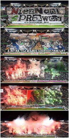5 different tifos shown yesterday by Legia Warszawa fans