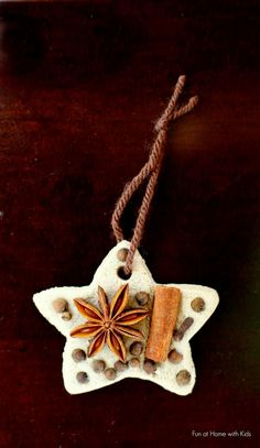 Chai Tea Salt Dough and Whole Spice Ornaments from Fun at Home with Kids
