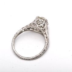 Antique Style  Engagement Filagree Ring Ill NEVER wear diamonds, but this is still pretty