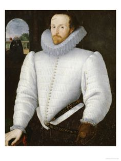Portrait of a Gentleman Traditionally Identified as Sir Walter Raleigh    by Robert Peake