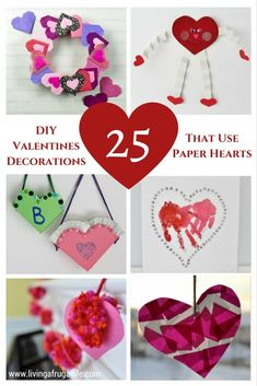 Are you looking for Easy DIY Valentine decorations that use paper hearts? These crafts are easy ways to decorate your home in classy ways the family can enjoy! Valentine Crafts For Kids, Homemade Valentines, Holiday Crafts, Valentine Sensory, Holiday Fun, Holiday Ideas, Diy Valentine's Day Decorations, Valentines Day Decorations, Heart Diy