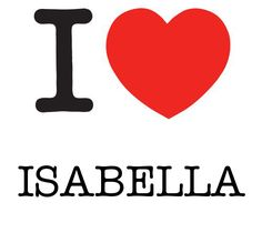 "Isabella, female name, European variant of 'Elizabeth' (Hebrew) and 'Isabel' (Hebrew), means ""God's promise; God is my oath"""