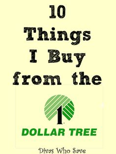10 Things I Buy from the Dollar Tree - Divas Who Save