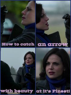 How to catch an arrow with beauty at it's Finest!! Lana Parrilla
