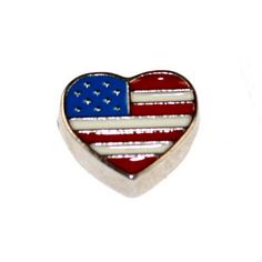 Floating Locket Charms --US flag HEART :  http://ok-charm-shop.com/floating-locket-charms-c-50_387/
