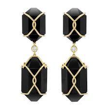 drop gold earrings - Google Search