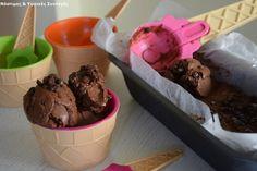 Νόστιμες κ Υγιεινές Συνταγές: Chocolate & Choco Chip παγωτό χωρίς ζάχαρη, κρέμα ...