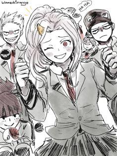 Queen beam, monoma's cousin and cannon throat personajes de anime, mangas, Boku No Hero Academia, My Hero Academia Memes, Hero Academia Characters, My Hero Academia Manga, Tous Les Anime, Look Man, Chica Anime Manga, Hero Wallpaper, Haikyuu