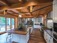Inside a stunning timber-frame home on Cayuga Lake