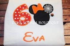 Personalized Birthday Halloween Minnie Mouse by DivaSophiaBoutique