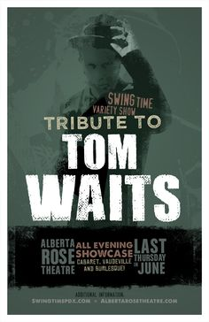 TOM WAITS CONCERT POSTERS - Google Search