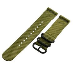 Olive Green Nylon Apple Watch Band