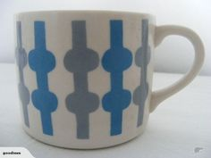CROWN LYNN 'DANZIG' CUP Danzig, Coffee Cans, Cup And Saucer, Dinnerware, Porcelain, Auction, Pottery, Crown, Mugs