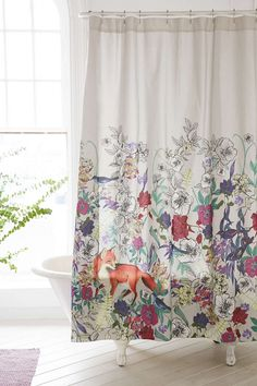 Plum & Bow Forest Critters Shower Curtain - Urban Outfitters