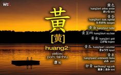 #CWord #JWord 黃[黄]huang2: yellow; porn; fall thru [黄   きki]