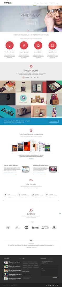 Florida - Premium Multipurpose Responsive Template #html5templates #modernwebsites #responsivedesign #webtemplates