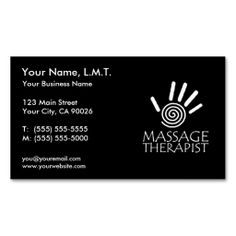 Fresh bamboo massage therapy business card massage business cards massage therapy business cards colourmoves