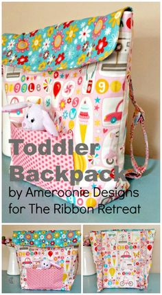 Toddler Backpack Tutorial - The Ribbon Retreat Blog
