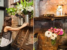 Sarah! What do you think of those tall flower arrangements on the tins or the pink and cream flowers on vase??