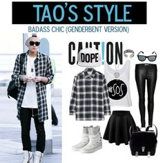 tao airport fashion, genderbent version ~ #exo