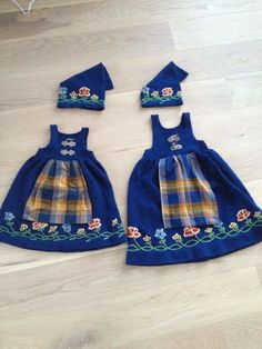 My good friend made these for her nieces, handmade, knitted and embroidered nordlandsbunad Going Out Of Business, Baby Onesie, Baby Knitting Patterns, Traditional Dresses, Baby Things, My Best Friend, Norway, Aurora, Something To Do