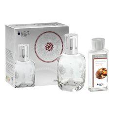 2013 聖誕套裝 - LAMPE BERGER 4385 透明香薰瓶連油體驗禮盒 - 白色磨沙白色系列 - Lampe Berger 香薰瓶