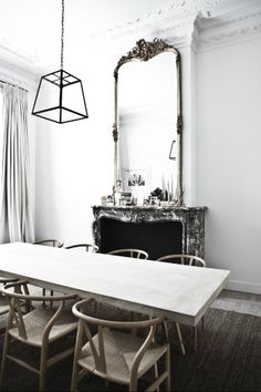 For more on this outstanding home with period details see www.brookeeva.com #perioddetails #white #brookeeva #diningroom MONDAY INSPIRATION: DRESSING YOUR WALLS
