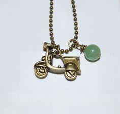 Vintage Scooter Charm Necklace by jodieholdman on Etsy, $6.00