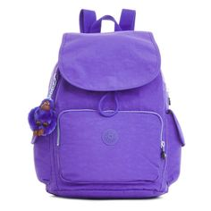 Kipling Ravier Backpack ($90) ❤ liked on Polyvore featuring bags, backpacks, octopus purple, rucksack bag, day pack backpack, kipling, kipling backpack and purple backpack