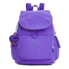 Kipling Ravier Backpack ($90) ❤ liked on Polyvore featuring bags, backpacks, octopus purple, rucksack bag, day pack backpack, kipling, kipling backpack and purple backpack