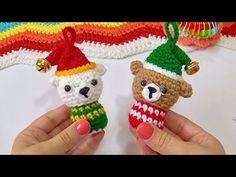 Ositos Navideños a crochet FACIL! - YouTube Crochet Christmas Ornaments, Christmas Crochet Patterns, Xmas, Easter, Holiday Decor, 1, Youtube, Amigurumi Doll, Stuff Stuff