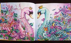 Swans witam Imagimorphia #imagimorphia #kerbyrosanes #fabercastell…