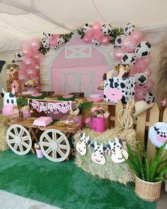 2nd Birthday Party For Girl, Horse Birthday Parties, Farm Animal Birthday, Cowgirl Birthday, Farm Birthday, Birthday Party Themes, Birthday Ideas, Deco Ballon, Farm Party