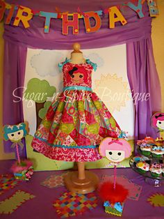 @Stacy Brooks, how cute is this!?     Fabulous Lalaloopsy inspired dress by angela81dutch on Etsy, $45.00