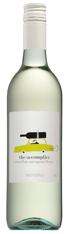 The Accomplice Semillon Sauvignon Blanc - wine labels (Wine Bottle Illustration) #cCreams #cGreens