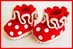Ravelry: Polka Dot Booties pattern by Lena Thiele ... ♣ #inspiration_crochet #diy GB