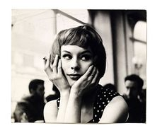 Portrait of an unknown girl in a cafe, 1960's. John Deakin's Soho photography