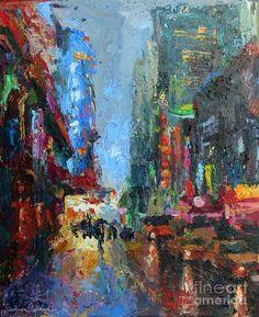 New York city 42nd street painting