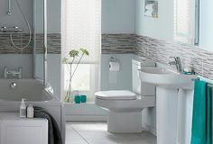 The Accent bathroom suite - a contemporary design with gentle curves and a sleek finish
