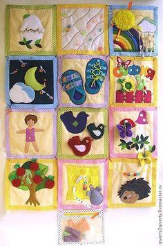 Развивающие игрушки ручной работы. Ярмарка Мастеров - ручная работа. Купить Развивающие книжки (варианты исполнения в БЛОГЕ). Handmade. ткань Baby Sensory, Sensory Toys, Sewing Toys, Baby Sewing, Quite Book Patterns, Baby Gym Mat, Book Libros, Fidget Quilt, Crafts For Seniors