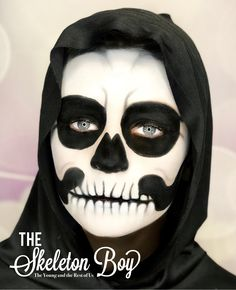 The Skeleton Boy. All SeneGence products were used for this look. Join my ladies only Facebook group, The Young and the Rest of Us Www.facebook.com/groups/shelbystheyoungandtherestofus #halloweenmakeup #halloween #halloweenmakeuplooks #skeleton #senegence #senegencedistributor223982