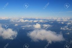 White clouds in the sky from air view Stock Photo - 95472385