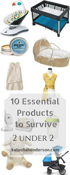 Essential Products to Survive 2 under 2. List of essentials when you get home from the hospital and gadgets to survive first few months with a baby