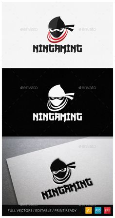 One Day logo sale on graphicriver #logodesign #ninja #game #gaming #cybermonday #sale #logo #logotemplate #freedom #sp