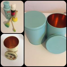 Tin - sponge - paint - old - new - varnish