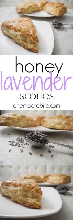 Honey Lavender Scones - The fluffiest scones made with Greek yogurt and coconut oil and infused with a floral and slightly sweet aromas.