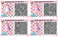 "animalsandmacarons: "" I'm gonna try to do these everyday~ This QR today is simple, but kawaii none the less! It's a very sweet pink dress with an apron tied with a bow in the back which is adorned with a pocket for anything you pick up along the way!..."