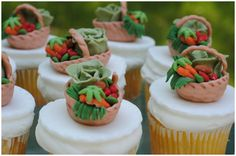 Peter Rabbit party cupcakes!!